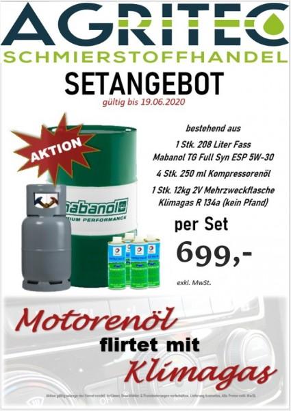 Set Angebot 3x60Liter 5W30+Kompressorenöl+Klimagas