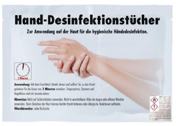 Hand-DesinfektionsTücher (2 Einzeltücher je Stück)