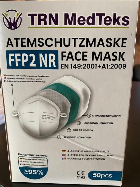 FFP2 NR Schutzmaske EN149:2001+A1:2009 50Stk.