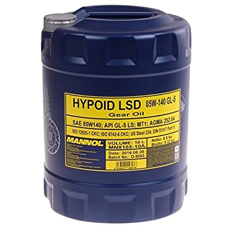 MANNOL Hypoid LSD 85W-140 API GL-5 LS 10 Liter