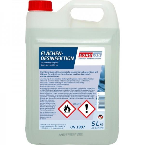 EUROLUB Flächendesinfektion Desinfektionsmittel 5 Liter Kanister